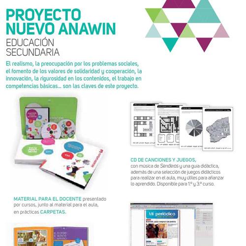 Editorial Edelvives – Proyecto Anawin de Educación Secundaria