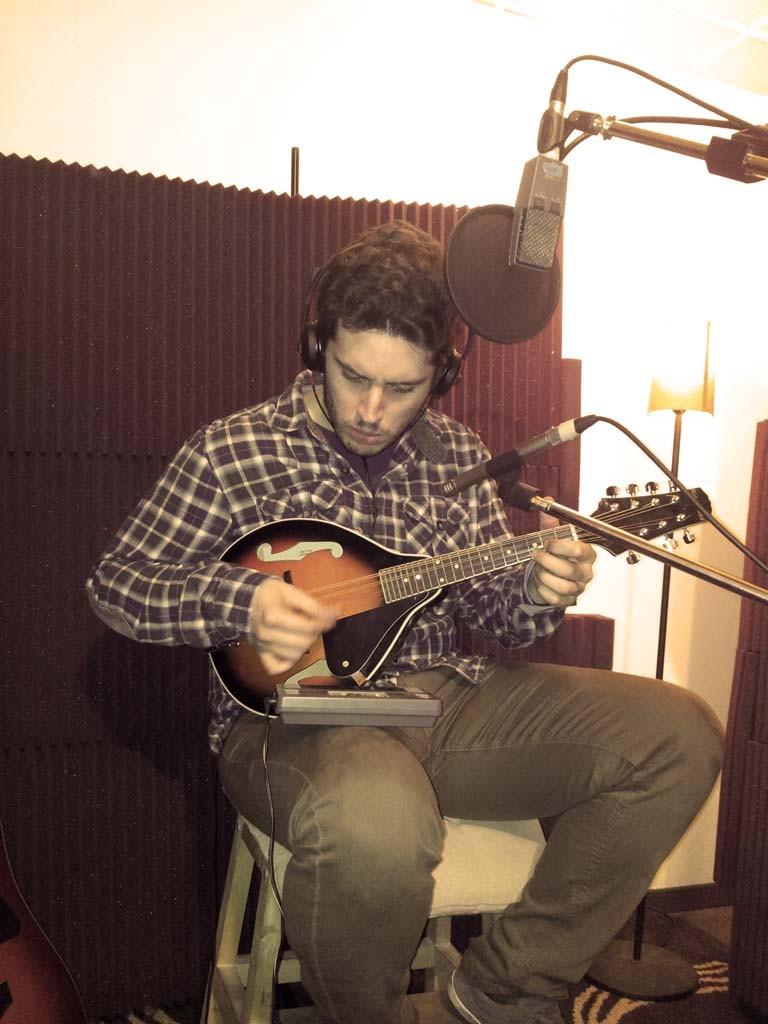 Grabando mandolina