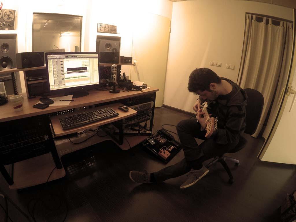 Grabando guitarra eléctrica