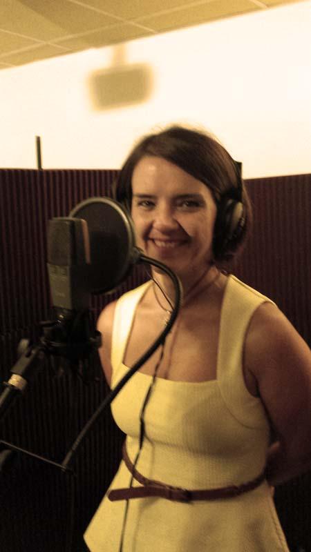 Grabando voces con Juani Sánchez