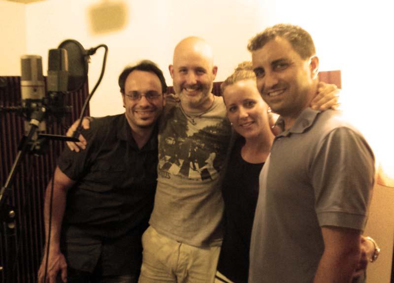 David Santafé, Manu Escudero, Cris Escudero y Paco Aranda
