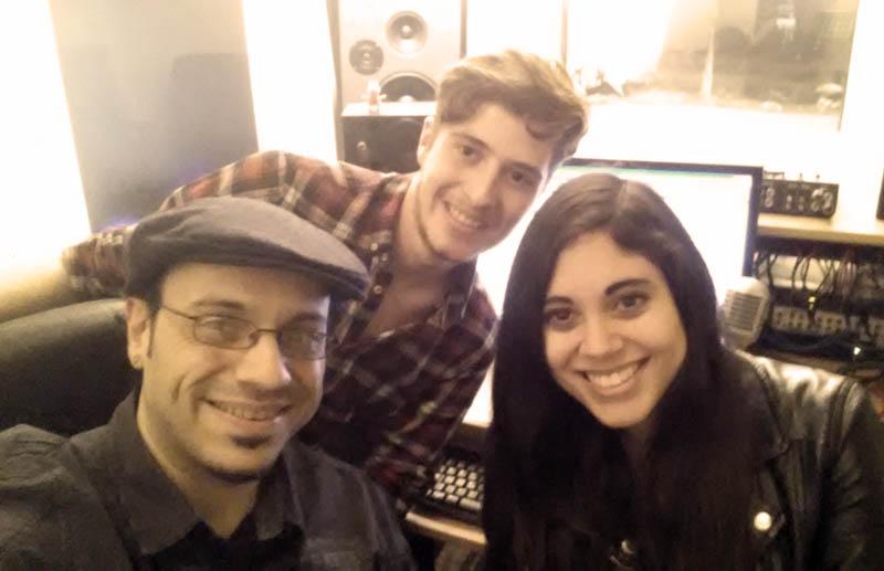 Dani, Yara y David Santafé
