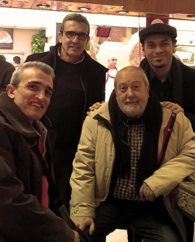 Emilio Morales, Juan Morales. Fernando Salaverri, David Santafé, Chito Morales