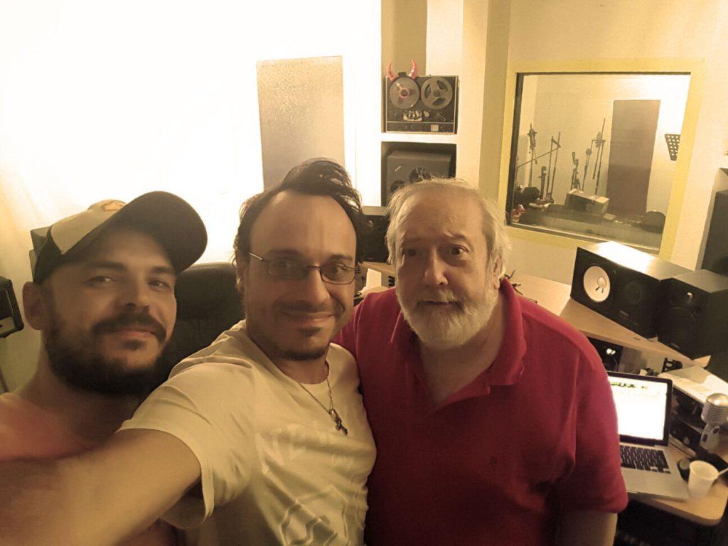 José Atero, David Santafé y Fernando Salaverri en los Estudios Santafé.