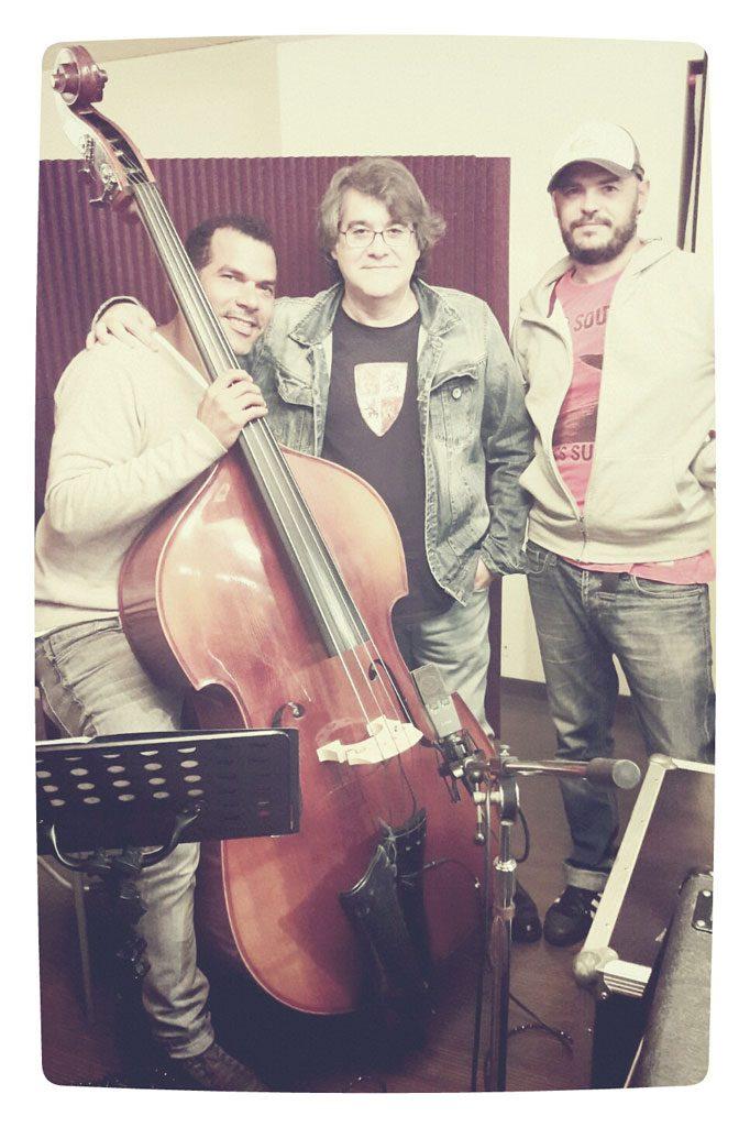 De izquierda a derecha,: Arián Suárez, César Hidalgo  y José Atero.